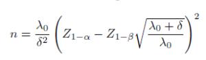 חישוב גודל המדגם בהתפלגות פואסון